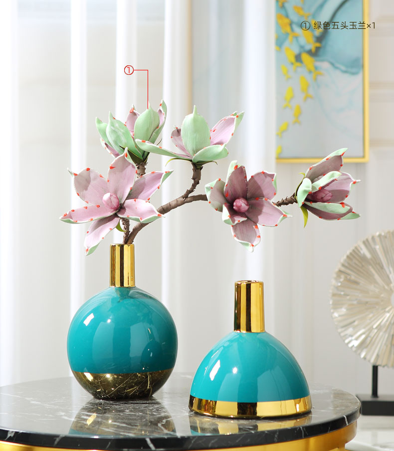 I and contracted simulation flower fake flower adornment furnishing articles home sitting room floral supplies desktop ceramic vases, suit