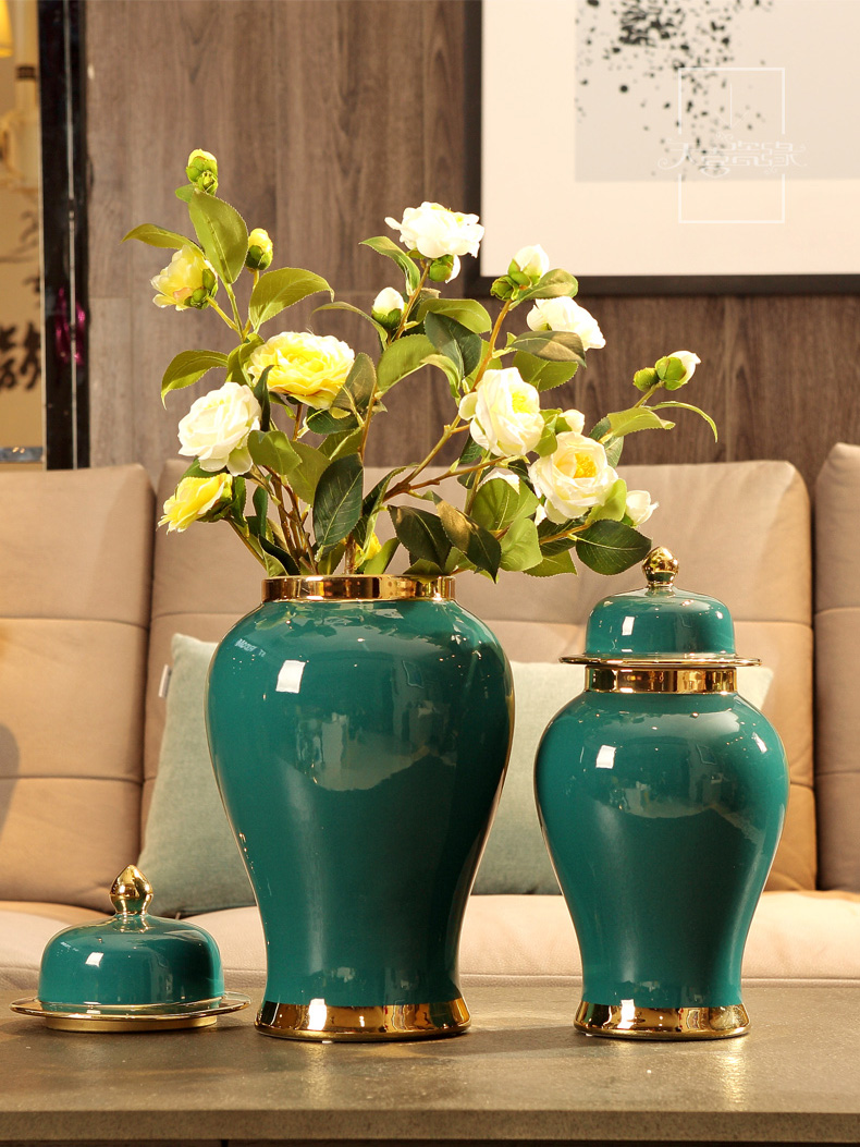 General European modern ceramic pot furnishing articles of new Chinese style originality sitting room porch pavilion flower arranging, home decoration