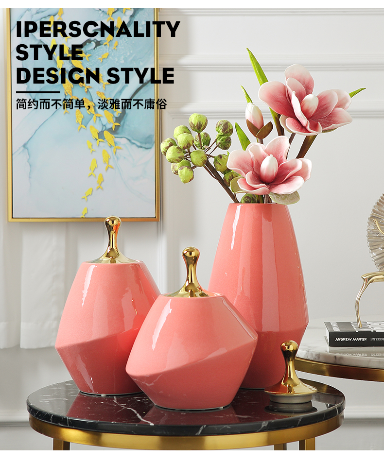 Jingdezhen ceramic vase furnishing articles Nordic I and contracted sitting room TV ark, porch decoration creative household act the role ofing is tasted
