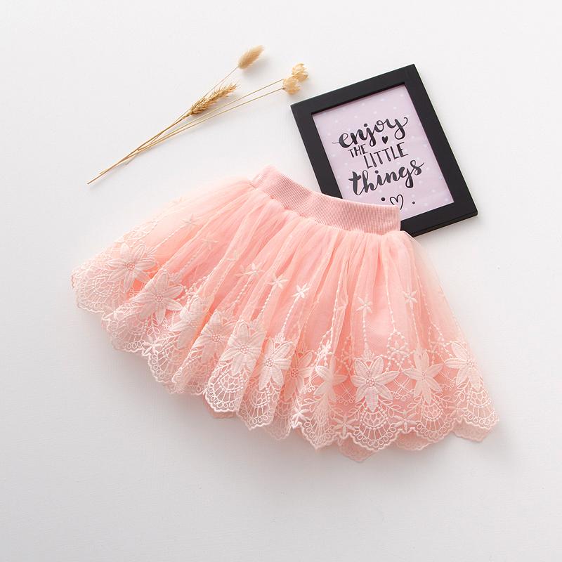 Красный Вышитая юбка - розовый