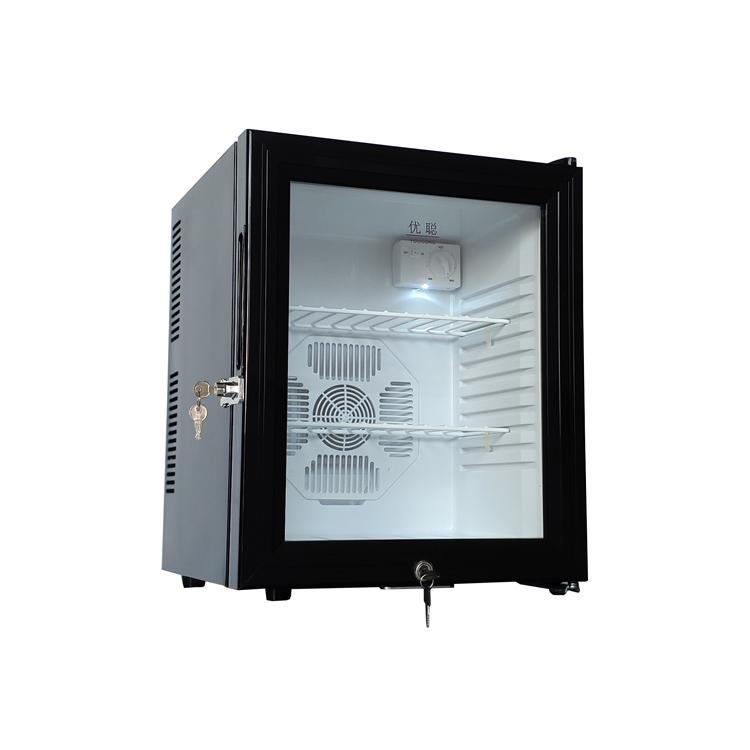 优聪30L40L冰箱幼儿园酒店留样柜v冰箱冷藏箱客房食品学校带单双锁