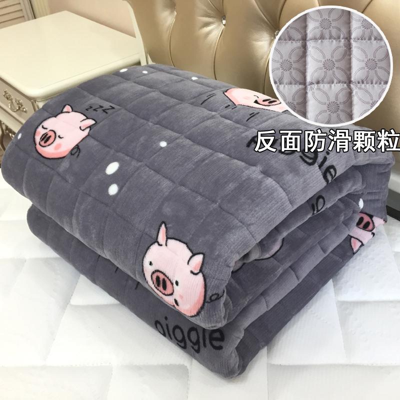 法兰绒褥子薄款1.5m米床床垫a褥子珊瑚绒1.8m床2米双人宿舍学生0.9