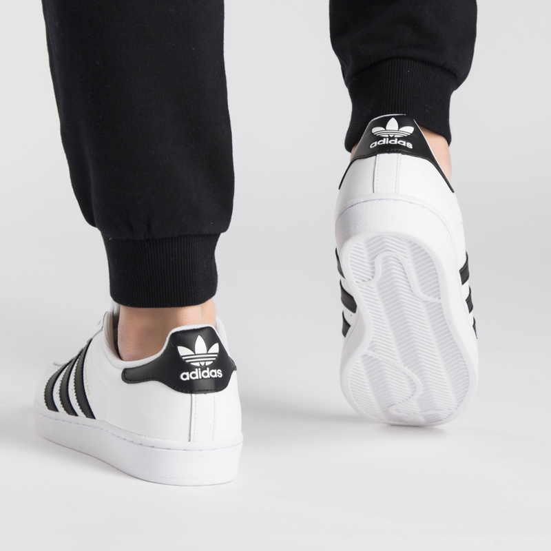 8ca7e22a780 Adidas men and women shoes clover gold standard shell head SUPERSTAR small  white shoes casual shoes C77124
