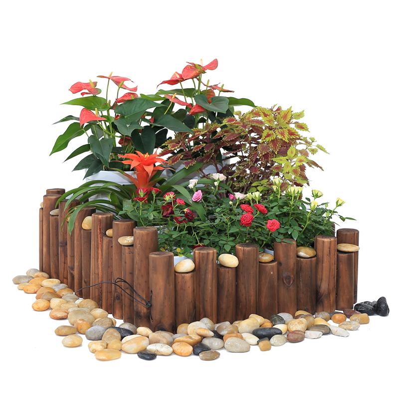 Anticorrosive Wooden Fence Round Wooden Pile Garden Fence Garden