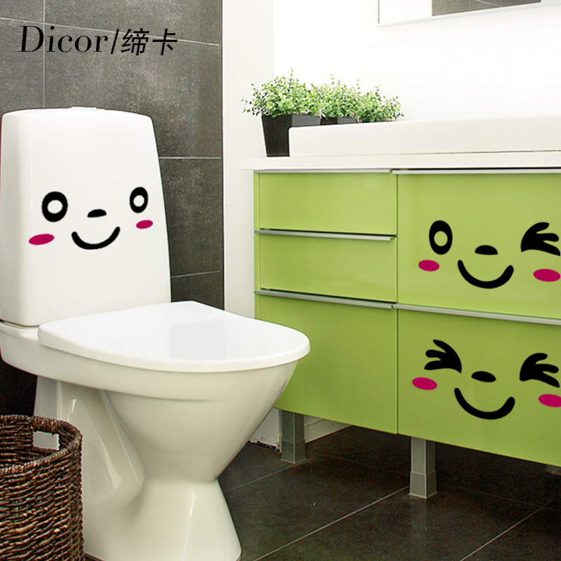 Usd 911 Smiley Face 3 Sets Of Creative Bathroom Waterproof Toilet