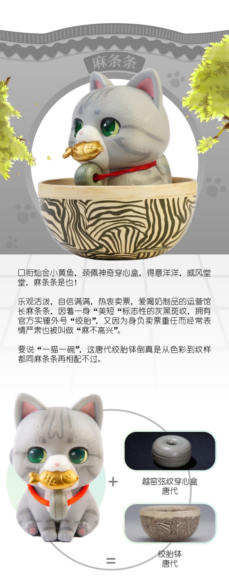中國觀復貓系列盲盒人氣貓館長宮廷貓潮流盲盒動漫公仔擺件現貨*可魯可丫