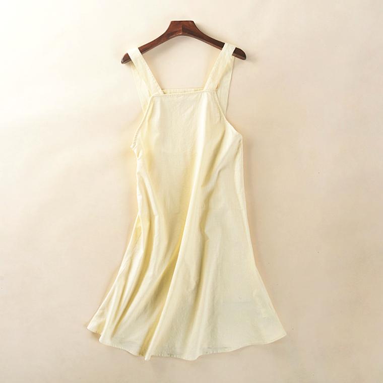 21017春夏新款韩版学生女装显瘦长裙裙纯色过膝背带连衣裙8月15日