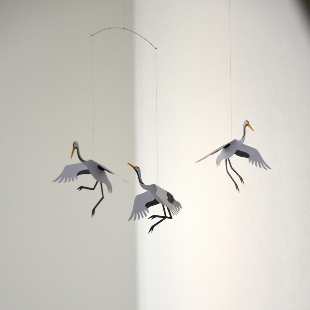 现货 丹麦燕子挂饰北欧平衡雕塑吊饰风铃详细照片