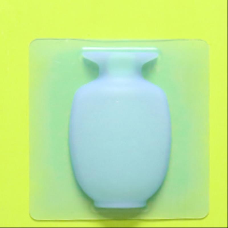 Chống rơi vỏ mềm sản phẩm thớt sản phẩm con lắc khuôn phòng khách màu xanh tự dính silicone tủ lạnh không có dấu vết dán tường sticker - Vase / Bồn hoa & Kệ