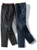 2020 новая коллекция отец хлопок брюки мужской зимний Внешний износ замшевый утепленный Средний и пожилой спортивный дедушка холодные штаны удерживающий тепло