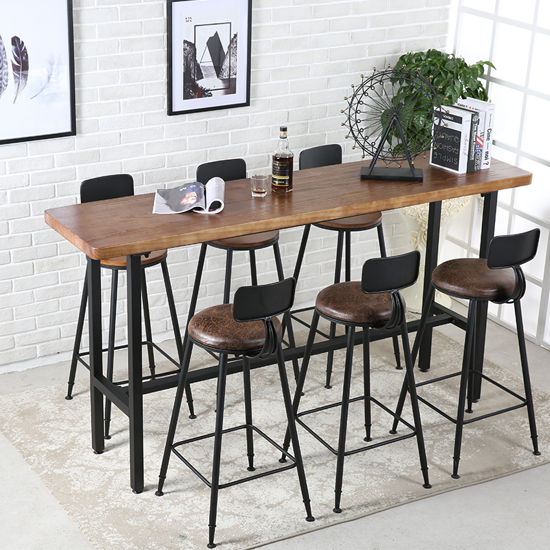 Custom Bar Table Home Solid Wood Bar Table Partition Bar Table Wrought Iron  Wall Narrow Table ...