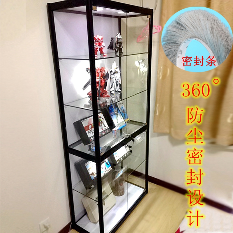 Shanghai Hand Made Display Cabinet Glass Shelf Gift Cabinet Home Sealed  Display Cabinet Animation Model Lego Showcase