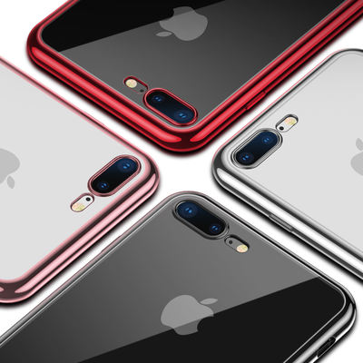 古尚古苹果iPhone8 Mobile Shell 7Plus Set 8 Transparent Silicone Female Men Anti-fall Eight iPhone6 ​​Soft Shell 7P Ultra-thin 6s All-inclusive New 8p Net Red Couple Shell 6splus