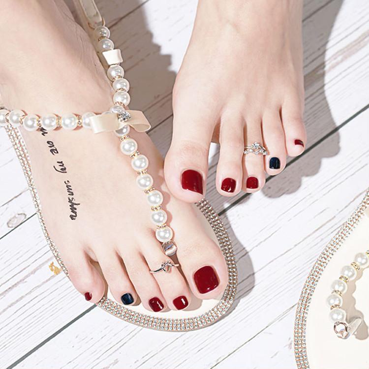 CandyMoyo脚指甲油女持久免烤快干不可剥套装显白夏季2020年新色