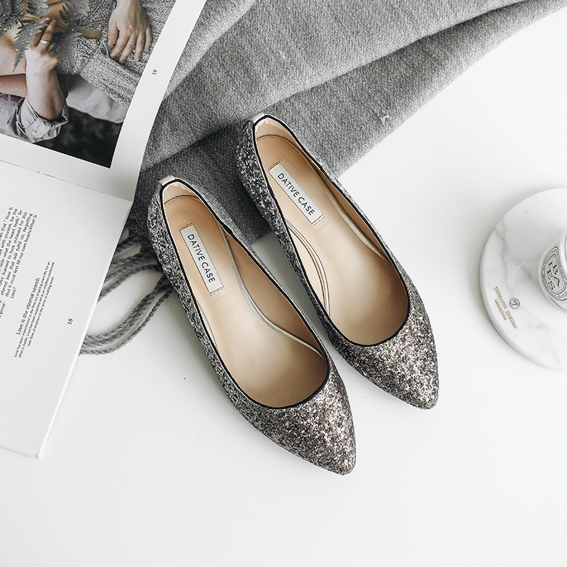 2b5485094044 D and grid shoes Spring 2018 new Korean version of the wild pointed single  shoes female · Zoom · lightbox moreview · lightbox moreview ...