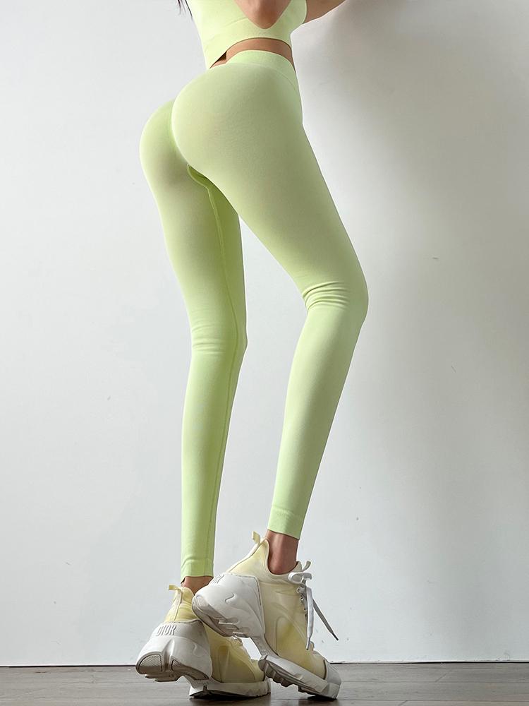 seamless high-waist yoga pants nihaostyles clothing wholesale NSXER79919