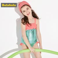 Barabara на девочку Купальник детский детские для маленькой принцессы Купальник русалка детские Шапочка для плавания, отдых, плавание комплект женщина