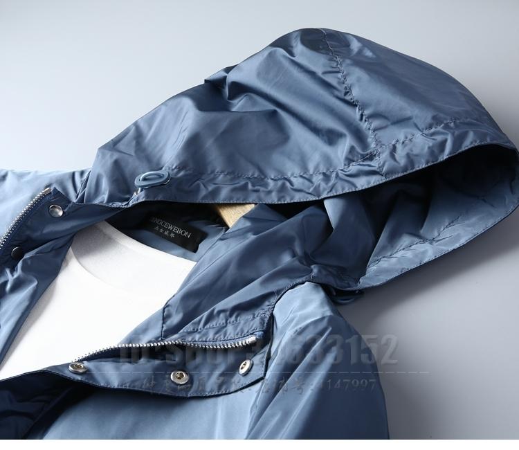 Giá cả phải chăng đề nghị mới mùa xuân và mùa thu trùm đầu áo khoác nam mỏng phần Slim thanh niên áo sơ mi màu rắn người đàn ông giản dị của áo mỏng