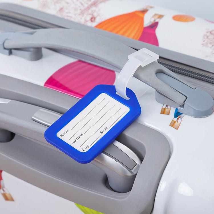 广告行李牌定製印登机牌塑料旅行牌行李标籤牌印刷挂牌託运牌详细照片