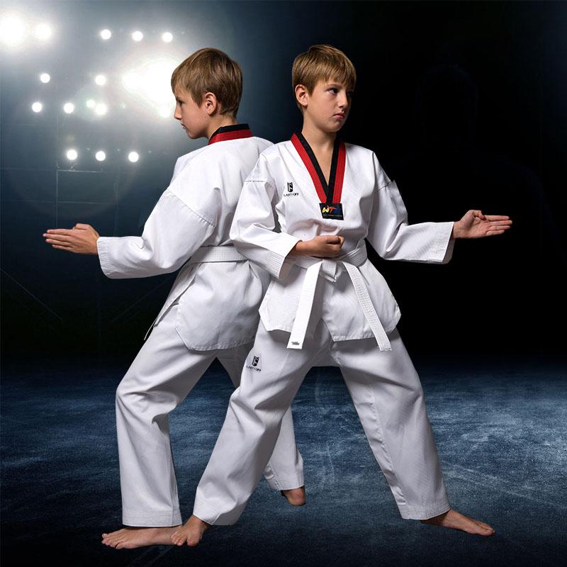 Полностью хлопок Весенние и летние взрослые детские Тейквондо костюм длинный рукав короткий рукав полностью хлопок мужские и женские Тренировочный костюм для таэквондо