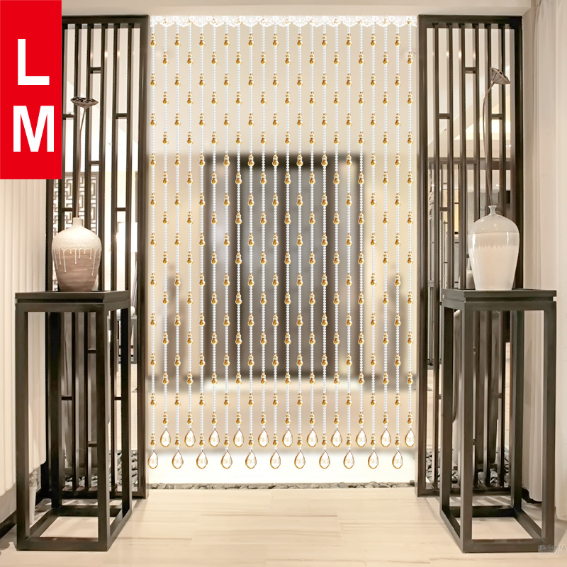 Lm Crystal Bead Curtain Bathroom Feng Shui Gourd Bedroom Curtains Living Room Parion Porch Decorative Free Punching