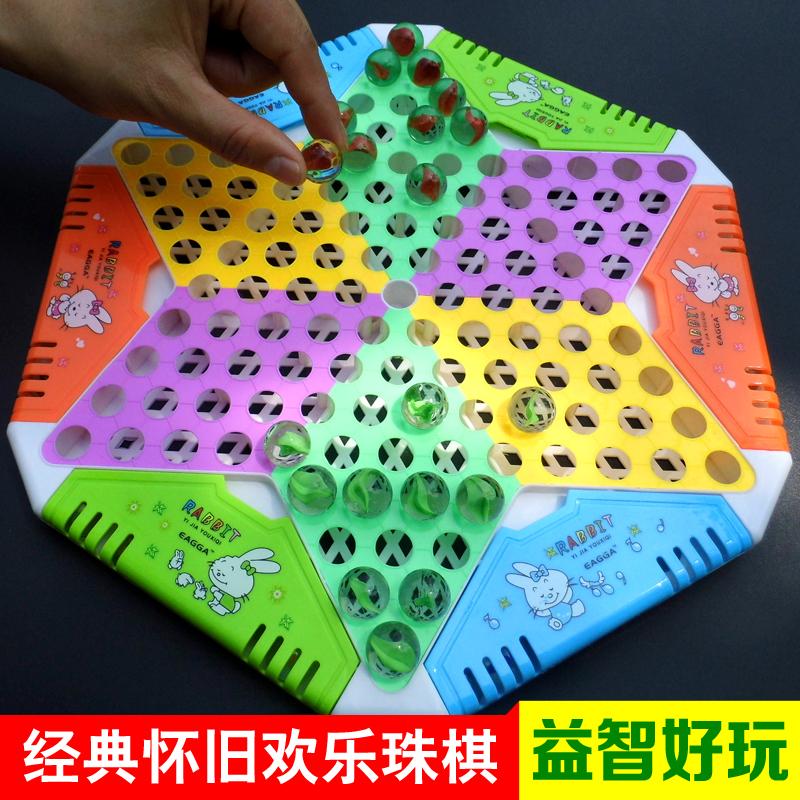 Классическая воспоминания большой размер стекло жемчужина шашки для взрослых случайный ребенок головоломка pinball прыжки шахматы игра шахматы стол тур