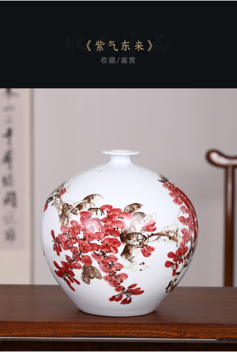 Creative fashion small place dried flower flower implement wine sitting room adornment art crafts vase of jingdezhen ceramics