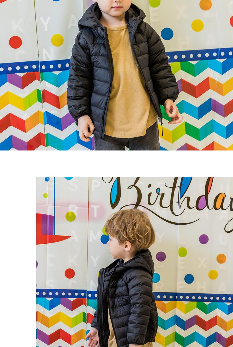 康衣儿儿童轻薄羽绒服短款中小童男童女童宝宝轻便外套羽绒衣童装详细照片