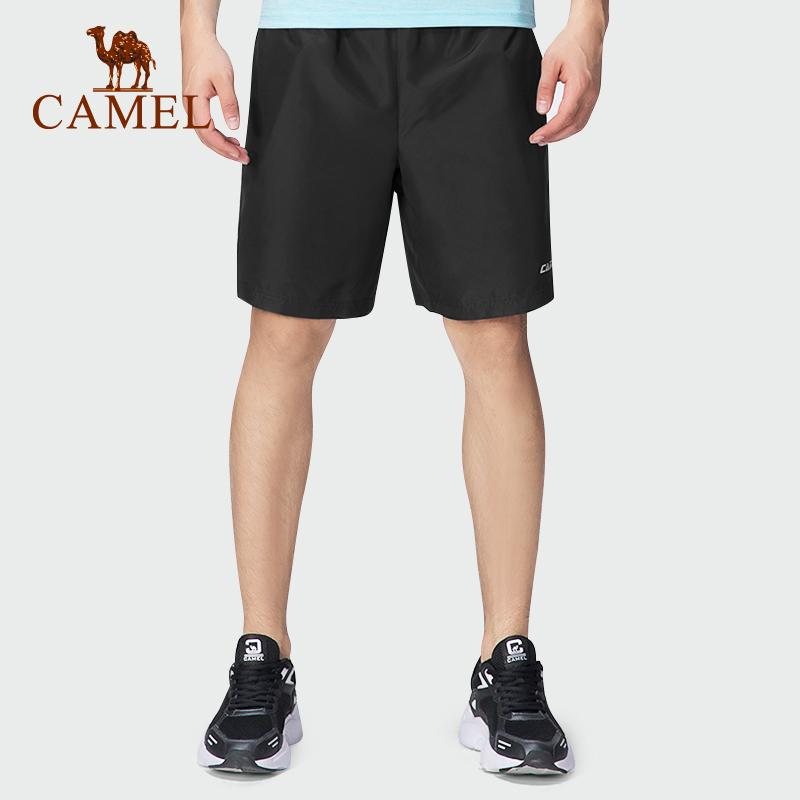 骆驼速干裤男士运动短裤女夏季薄款五分裤跑步宽松透气休闲裤子潮