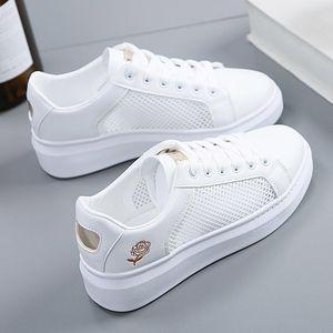 218小白鞋女新款韩版百搭基础厚底学生休闲运动白鞋女板鞋