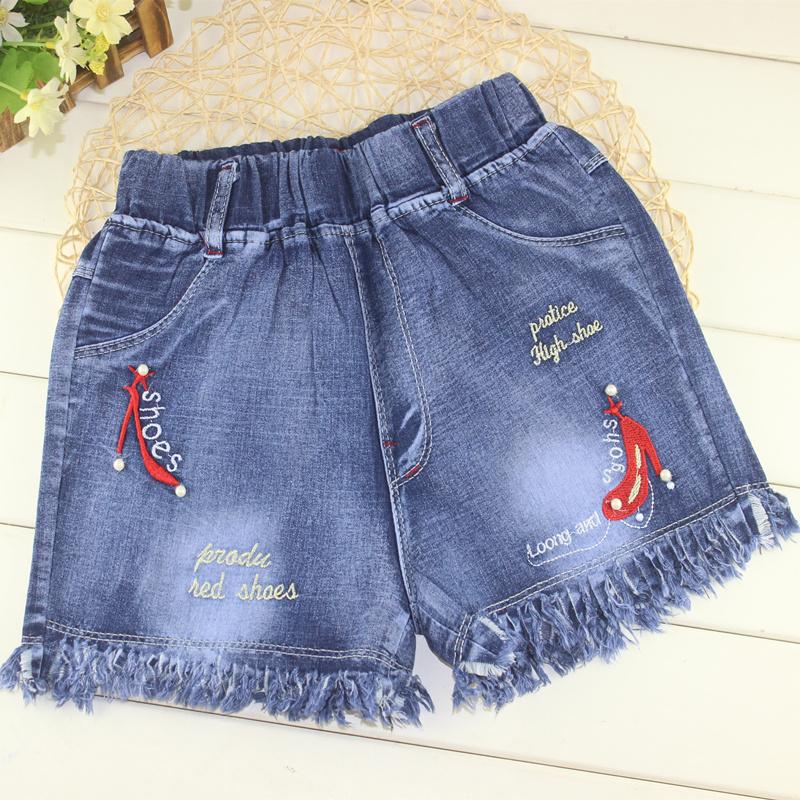 牛仔裤子女童夏薄款外穿韩版时尚2019新款夏季装破洞热裤儿童短裤