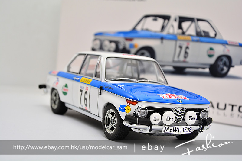 Details about Autoart 1:18 BMW 2002 TAP RALLY #76 1972