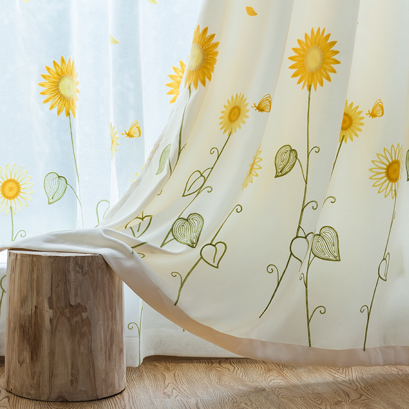 USD 23.61] Korean garden small fresh finished curtains ...