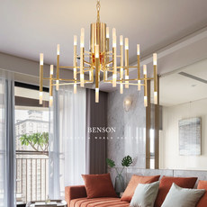 After led modern personality living room chandelier Nordic branches personality type acrylic lamps modern minimalist cafe