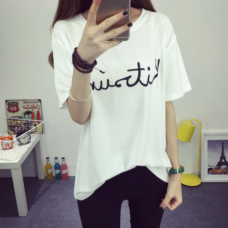 夏装新品纯棉短袖女t恤泡泡袖韩版修身纯色大码中袖上衣打底衫秋