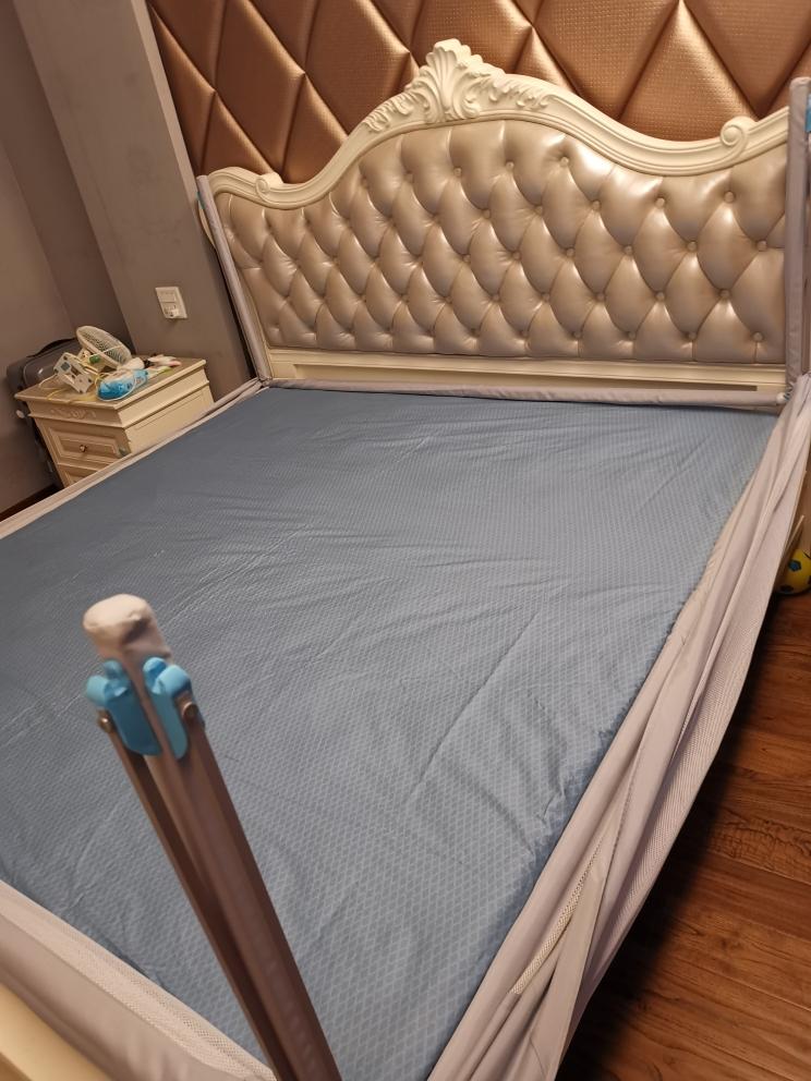 水星家纺全棉纯棉四件套床上用品蓝色被套花舞幽然2019新品!
