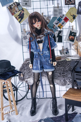 taobao agent 【endless】-ANS-bjd/sd/dd/msd Uncle doll baby clothes denim jumpsuit baby clothes