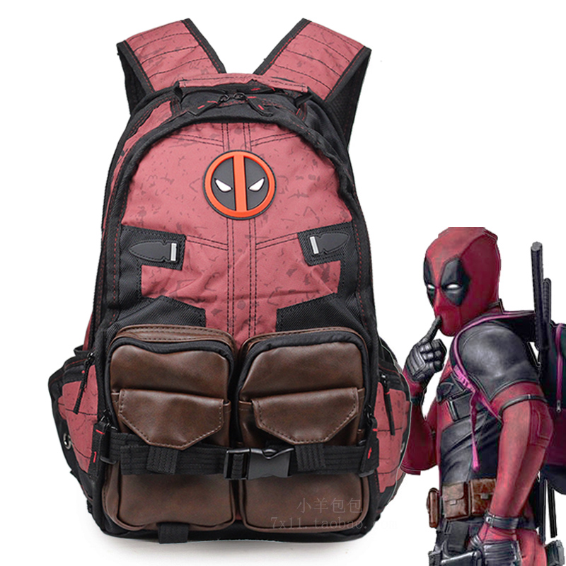 3cab31a6a72b Deadpool backpack men s shoulder bag fashion trend Youth Travel Outdoor  personality creative student Bag Man wai