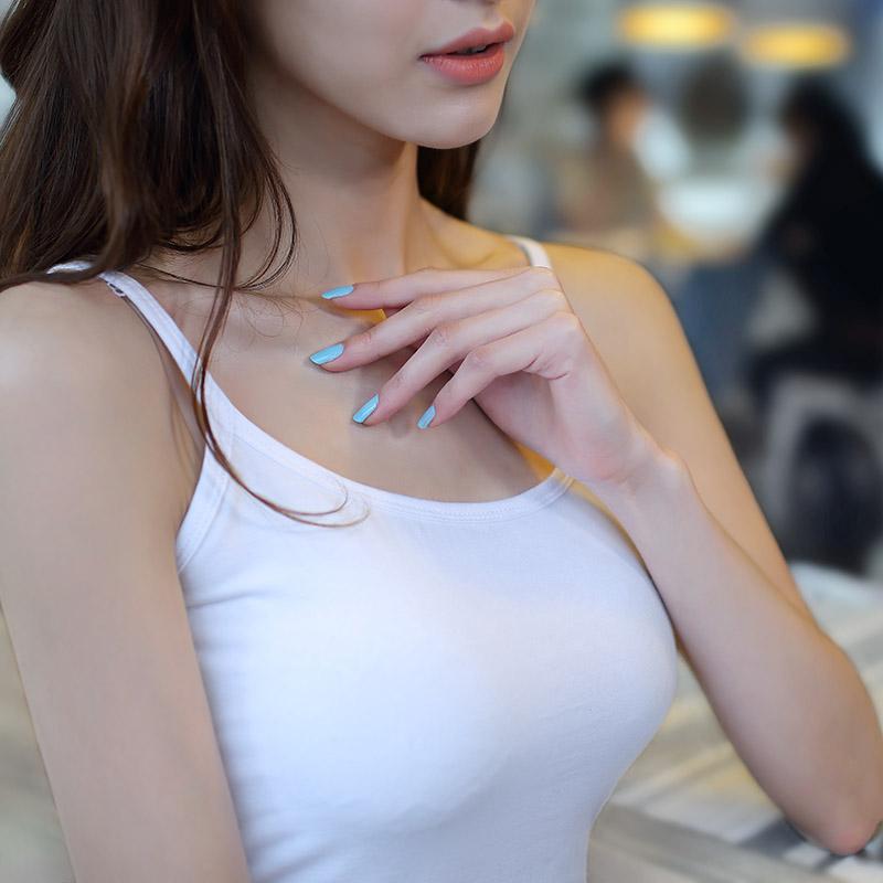 Лифчик женский белый Нижняя рубашка короткий Маленький майка хлопок приталенный Сексуальная жилетница
