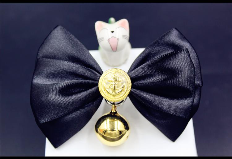 宠物饰品铃铛手工猫领结猫咪项圈狗链子蝴蝶结金毛泰迪正装