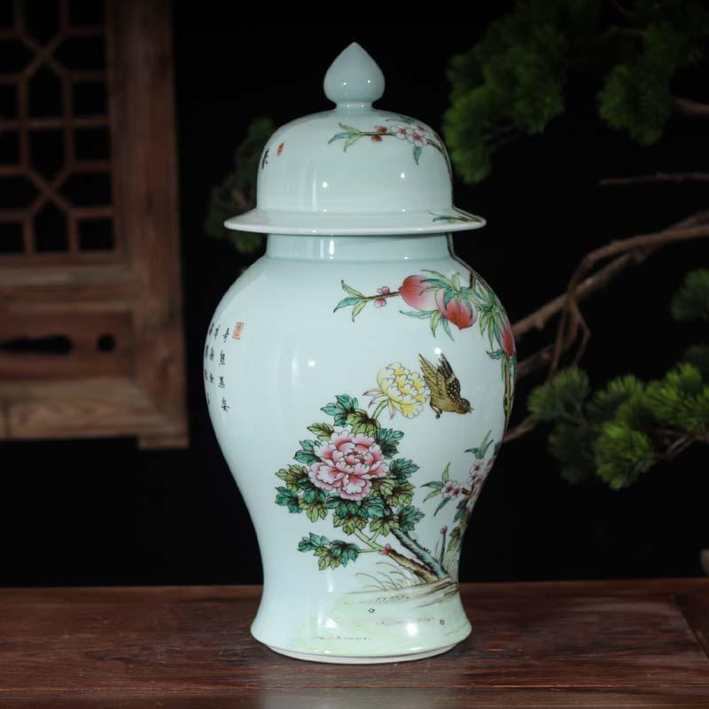 Jingdezhen hand - made pastel flowers imitation the qing general high - grade general yongzheng hand - made general pot