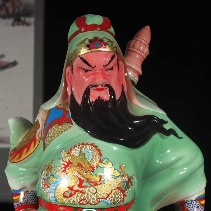 Jingdezhen 50 cm high, duke guan ceramic figure its in furnishing articles furnishing articles blush duke guan vital qi ancient characters