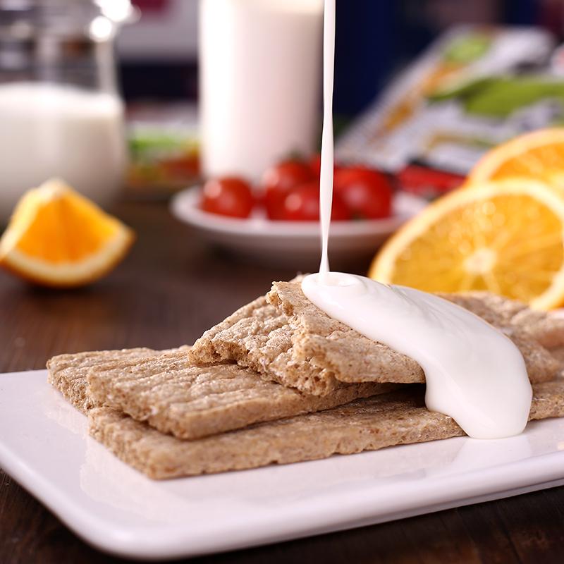 俄罗斯进口全麦粗粮代餐饼干 低卡小零食 健身食品 无糖无油