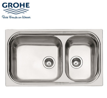 GROHE kitchen sink dish Basin double slot stainless steel sink ...