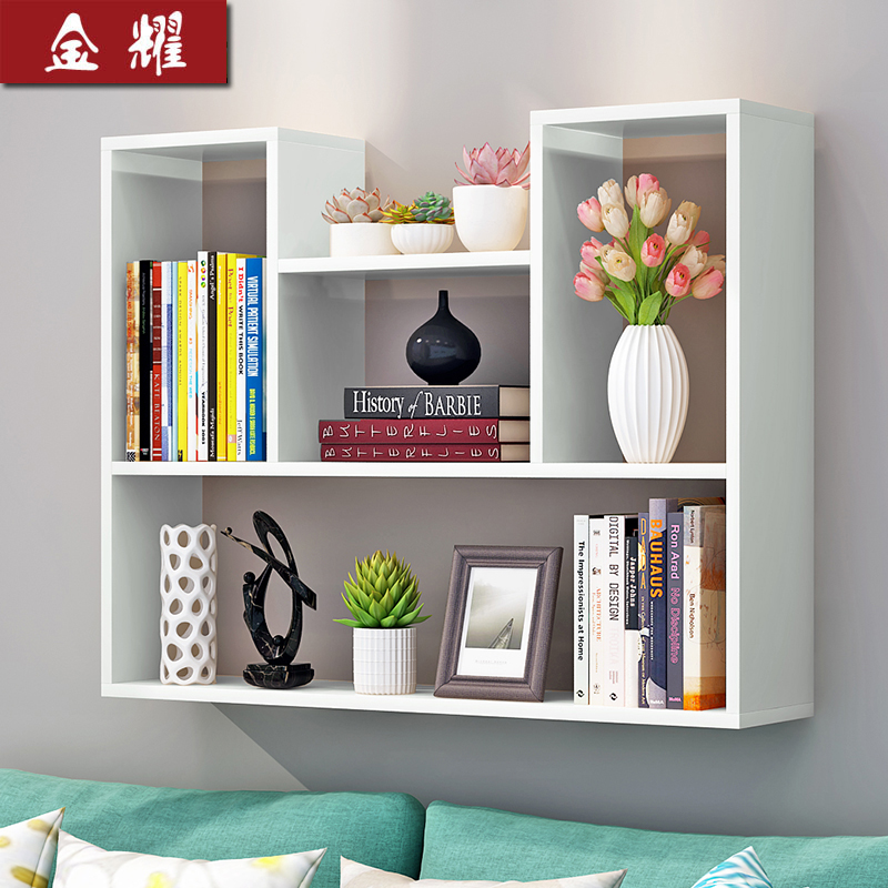 Creative Dormitory Wall Racks Hanging Board Bedroom Bookshelf Wall Hanging  Wall Cabinet Word Partition Modern Simple