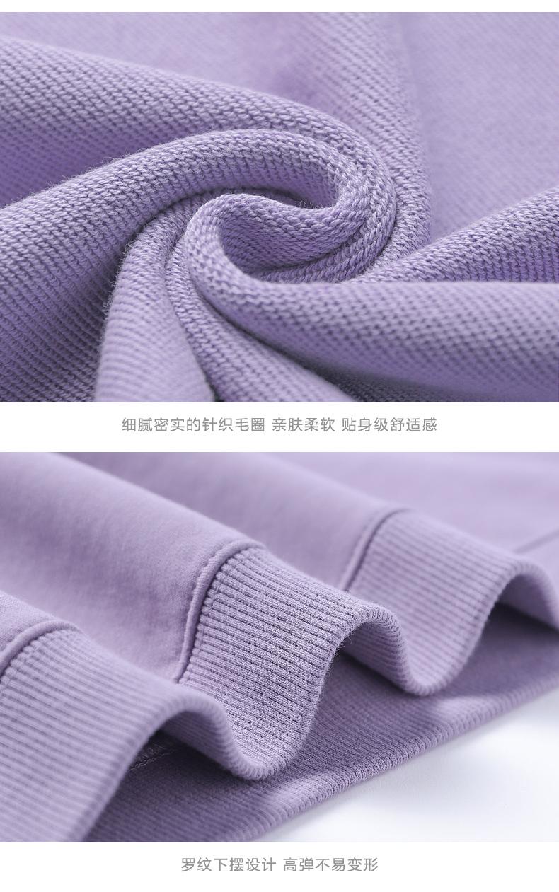 紫色加绒卫衣新款女冬季潮宽鬆韩版秋冬连帽加厚爆款上衣详细照片