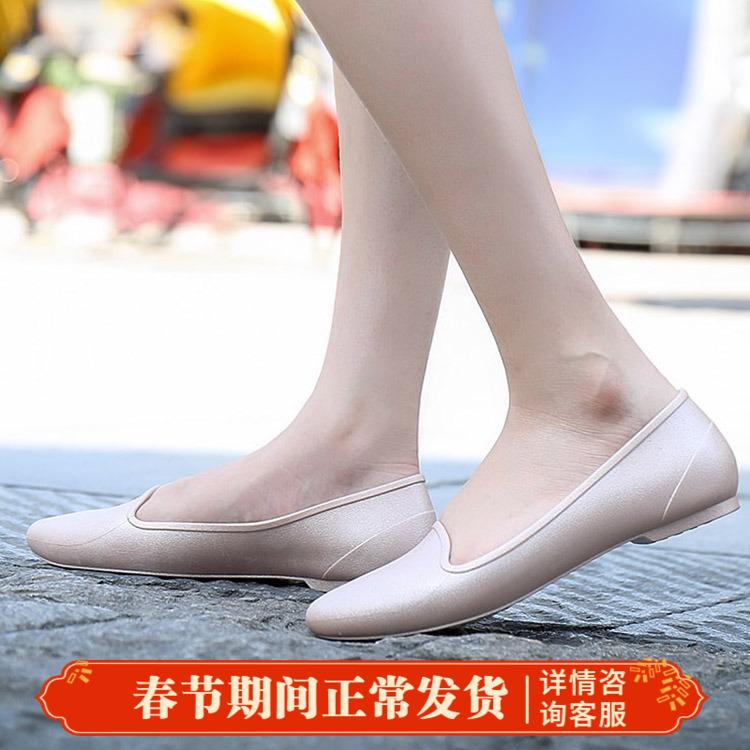 卡骆驰女鞋2018新伊芙凉鞋平底鞋休闲鞋浅口平底女金属205156
