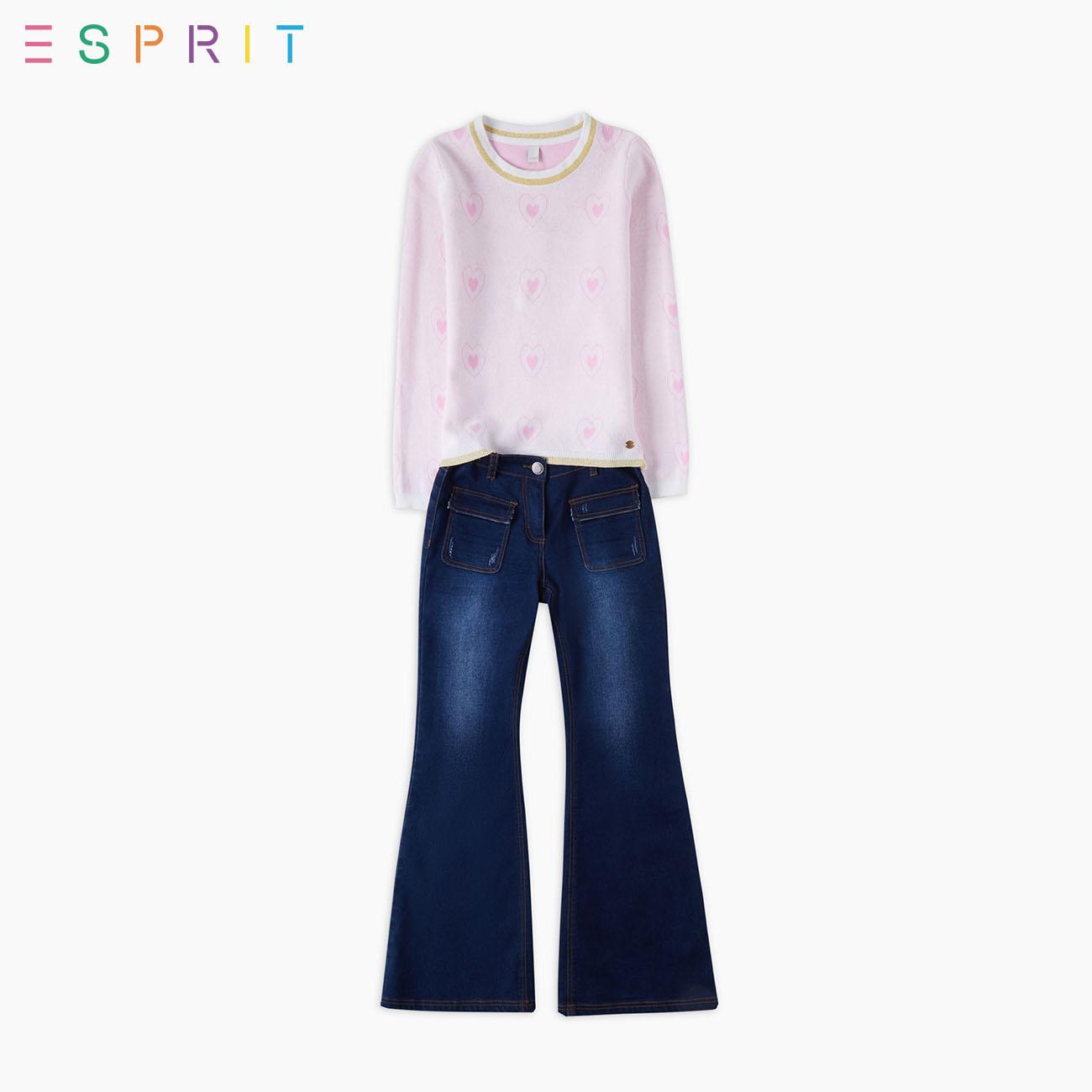 ESPRIT/ ангстрем этот плимут специальный doppel hertz длинный рукавов модель девочки хеджирование свитер -XK2K0348