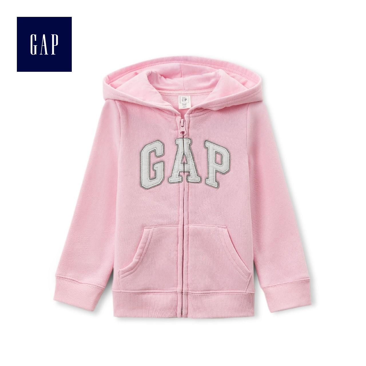 Gap女婴幼童 多色徽标连帽卫衣 儿童宝宝上衣外套259444