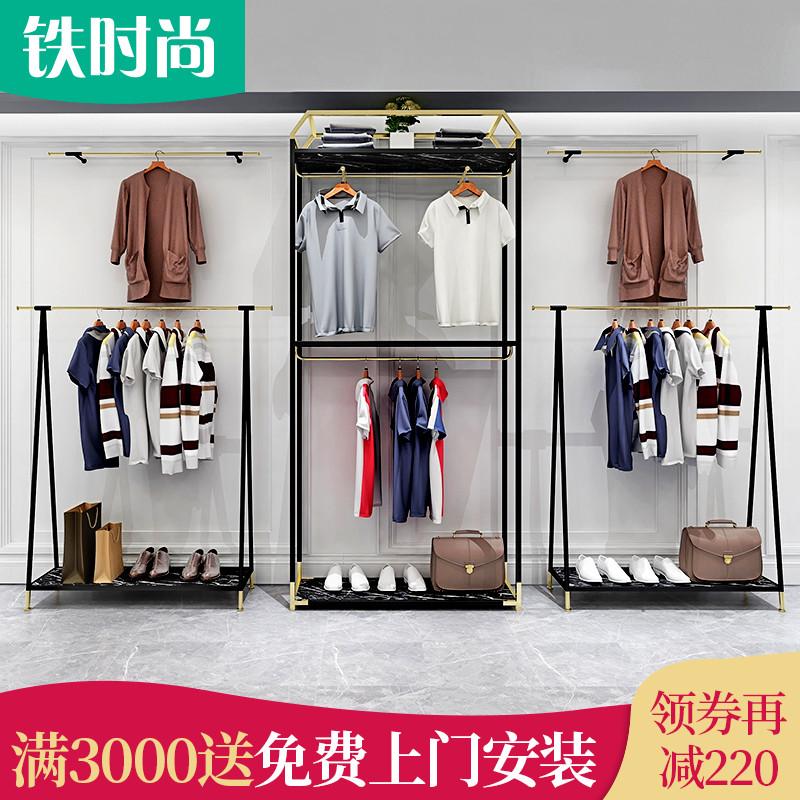 Железо мода мужской мода одежда фирменный магазин дисплей зал высококачественный молл поле мужской магазин полка этаж украшение